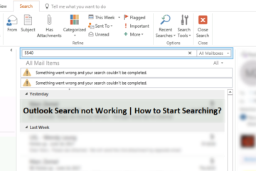 Outlook-Search-not-Working