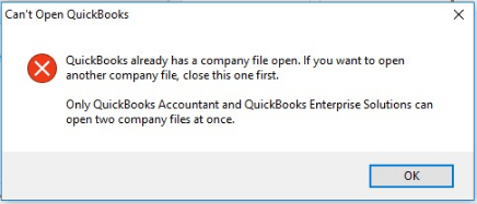 can't open quickbooks