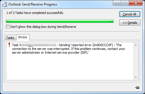 outlook-error-0x800ccc0f